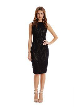 Shamini Lace Pencil Dress | GUESS.com