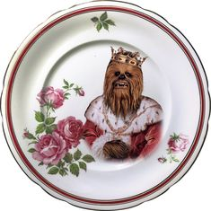 King of the Wookies - Chewbacca - Star Wars - Vintage Porcelain Plate - #0577 by ArtefactoStore on Etsy