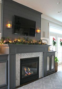 A gorgeous fireplace transformation!