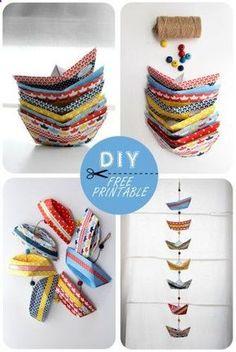 Origami de bateau, avec des paterns imprimer gratuitement.