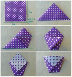 Papeles Pequeños: DIY origami bag - Bolsita para caramelos
