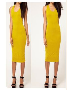 Sexy Ladies Backless and Sleeveless Midi Dress Yellow Dresses For Work, Dresses With Sleeves, Summer Dresses, Dress Work, Seersucker Dress, White Sleeveless Dress, Asymmetrical Dress, Clubwear, Autumn Fashion