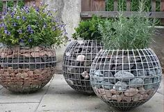 49 Fascinating Gabion Decorating Ideas For Your Outdoor Garden Landscape Design, Garden Design, Gabion Wall, Gabion Fence, Home Vegetable Garden, Garden Planters, Garden Projects, Garden Inspiration, Garden Furniture