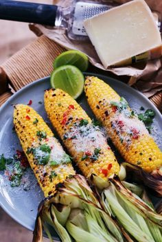 grilled corn with truffle oil, chilli & parmesan | fingerforkknife.com
