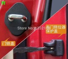Auto Door Checks Cover And Door Lock Protecting Cover Water Proof Protector For Toyota Camry 2015 Highlander 2015 8pcs Lot Door Locks Camry 2015 Toyota Camry