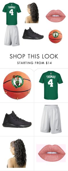 """""""#BLEEDFORCELTICS"""" by straighthairgrace ❤ liked on Polyvore featuring adidas and NIKE"""