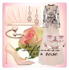 """""""Soft Rose"""" by lullulu ❤ liked on Polyvore featuring Elie Saab, Jimmy Choo, Givenchy, Alex and Ani and Miadora"""