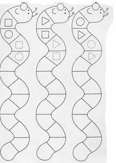 Printable worksheets for kids Complete the drawings 42 Preschool Writing, Preschool Learning Activities, Preschool Worksheets, Kids Learning, Printable Worksheets, Arabic Alphabet For Kids, Math Patterns, Coding For Kids, School Fun