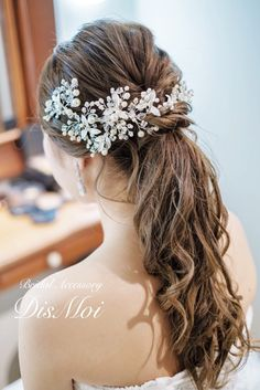Just click the link for more information on wedding hairstyles classic Curled Hairstyles, Straight Hairstyles, Wedding Hairstyles, Bridal Makeup, Bridal Hair, Headpiece Jewelry, Romantic Updo, Grunge Hair, Hair Dos
