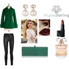 Alysse Sterling Festive Pairings by alyssesterling on Polyvore featuring Helmut Lang, Samira 13, NARS Cosmetics and Elie Saab