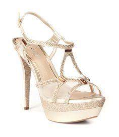 e7119cbd9e1 Shop for Gianni Bini Elicia Metallic Rhinestone Detail Dress Sandals at  Dillards.com. Visit