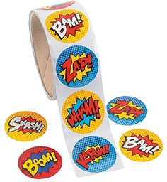 Superhero Sticker Roll - 100 pc Party Supplies http://smile.amazon.com/dp/B00JV52PQ2/ref=cm_sw_r_pi_dp_vgV.vb09HG1ZP