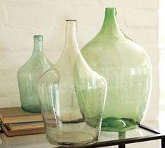 vintage glass wine bottles - art inspiration