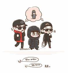 ChanSooHun Exo Cartoon, Cartoon Images, Exo Anime, Chansoo, Chanbaek, Exo 12, Exo Fan Art, Exo Lockscreen, Kpop Drawings