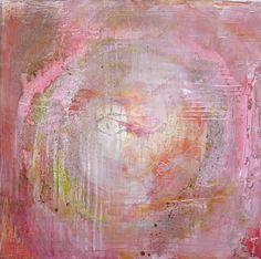 Mandala rosa, Acryl gegossen