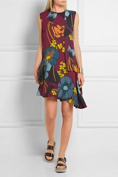Marni dress with asymmetrical hem