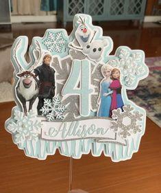 Frozen Birthday Banner, Frozen Banner, Frozen Theme Cake, Birthday Cake Toppers, Sven Frozen, Frozen Movie, Frozen Disney, Frozen Party Decorations, Diy Birthday Decorations