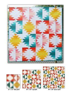 """SOLAR ELCIPSE quilt pattern. Modified and modernized Delectible Mountains block. Made with 2.5"""" strips. Beautiful!"""