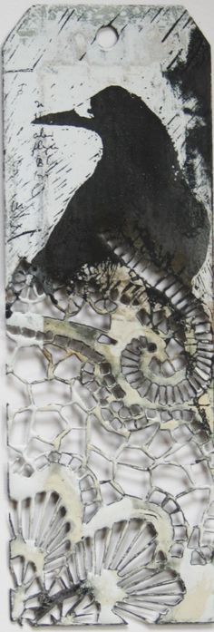 I am an artist who uses enameled metalwork and printmaking to tell stories. Inspired by process as much as nature, my work sprin. Raven Bird, Crow Art, Collagraph, Art Folder, Ceramic Studio, Creature Feature, Book Cover Art, Art Club, Tag Art