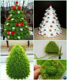 3D Crochet Christmas Tree Free Pattern-Sparkling Christmas Tree