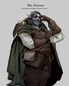 """[RF] """"The Doctor"""" - Firbolg Knowledge Domain Cleric : characterdrawing Fantasy Character Design, Character Drawing, Character Design Inspiration, Character Concept, Character Ideas, Character Outfits, Story Inspiration, Concept Art, Dungeons And Dragons Characters"""
