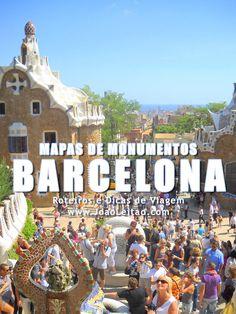 Mapas de Monumentos em Barcelona