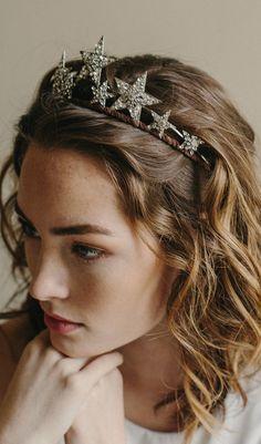 Star tiara, bridal crown, hair accessory, - Stargazer