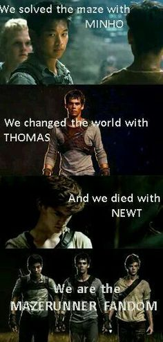 I love these books so much, I was so attached to all the characters. RIP newt ❤️