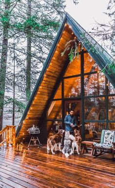 The Chalet, A Frame Homes, A Frame Cabin, River Cabins, Log Cabins, Log Cabin Interiors, Cabin In Woods, Cozy Cabin, Winter Cabin