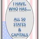 """Game of I have, Who has...Using the 50 States and Capitals.    Want to buy all my States-Capitals-Abbreviations Items in one - Look for """"States-Cap..."""