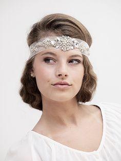 Crystal Wedding Headband  1920s Gatsby Style by gadegaarddesign, $129.00