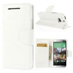 HTC One M8 Valkoinen Sonata Lompakko Suojakuori  http://puhelimenkuoret.fi/tuote/htc-one-m8-valkoinen-sonata-lompakko-suojakuori/