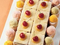 La Cucina Italiana'dan Lezzetli '' Dondurmalı Sandviçler '' Tarifi...    Her bir tost ekmeğinin kenarlarını kesip dörde bölün. Fotoğrafta gördüğünüz şekilde tabaklara yerleştirdiğiniz sandviçlerin arasına marmelatları sürün. Tost ekmeklerinin üzerine yarım çay kaşığı kayısı marmelatı sürüpbir adet kiraz yerleştirin. Kare sandviçlerin yanındaki mini tartların üzerine…
