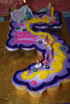 I love the movie Tangled and I love this Tangled Cupcake