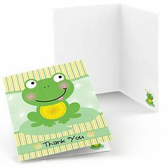 Froggy Frog - Baby Shower Thank You Cards - 8 ct | BigDotOfHappiness.com