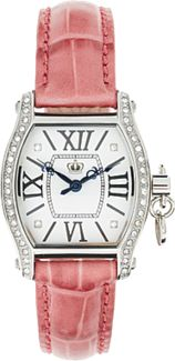 Juicy Couture Pink Leather Strap Watch