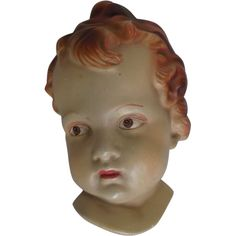 Here is the most beautiful Angelic Face bust for hanging by Coventry Ware of Ohio, circa 1950's, 60's. Made of a plaster composition and still retains