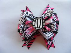 Volleyball Hair Bow in Your Team Colors by kandkdazzlingdesigns, $5.95