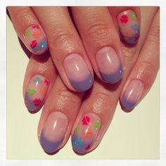 カラフルKISSマークネイル #avarice #art #kayo #design #nails #nailart #nailsalon #kiss #colorful (NailSalon AVARICE)