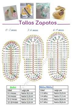 80 Patrones para hacer zapatitos, botines y zapatillas de bebés en crochet (free patterns crochet sandals babies) This is a super easy and fast step by step tutorial that will teach you how to crochet baby sandals - Salvabrani Hilaria crochet projects: C Booties Crochet, Crochet Converse, Crochet Baby Boots, Crochet Baby Sandals, Crochet Baby Clothes, Newborn Crochet, Crochet Slippers, Baby Booties, Baby Slippers