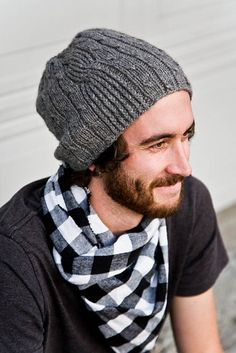 Gingham guy scarf and great hat too! Ravelry: Project Gallery for Bartek pattern by Jesska Hoff