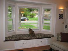 Window seat with storage under