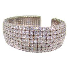 Platinum & Diamond Bangle Bracelet - 28.83 carats of diamonds