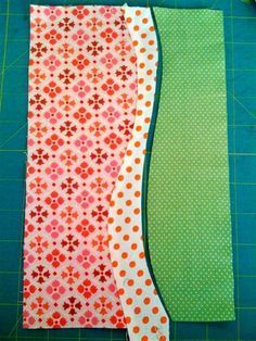 Curved Piecing Tutorial---would make a great quilt back!