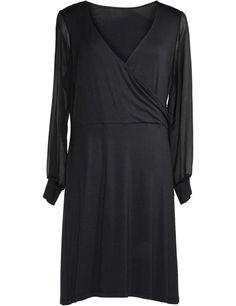 Wrap-effect dress  #plus #size #fashion #dress #wrap