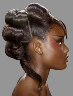 Prom updo hairstyle for African American women