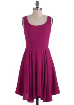 Just About Anywhere Dress in Raspberry, #ModCloth...the possibilities with layers!