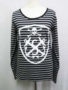 CDJapan : Border Marine Long T-shirt (M) S-115127001-02 SUPER LOVERS APPAREL