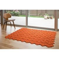 Crafted Systems felt products:  petalrug, mango 4.5' x 5' 4 color options available