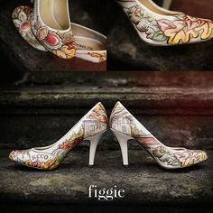 Personalized Custom Hand Painted Fall Wedding Shoes by Figgie // www.figgieshoes.com
